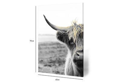 HINCS - Bull Canvas Wall Art 60x90cm