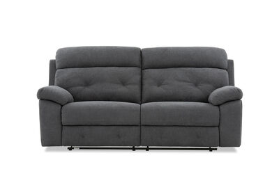 BERNARD - Fabric 3 Seater with 2 inbuilt Recliners
