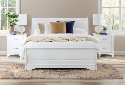 HUDSON BAY - White Queen Bed