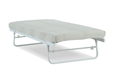 FUNES - White Single Trundle Bed