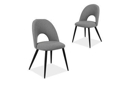 SPARROW - Set of 2 Grey Dining Chairs