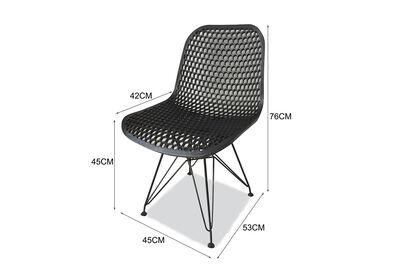 SASSARI - Set of 4 Black Outdoor Chairs