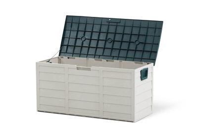BALDWIN - White/Green Outdoor Storage Box