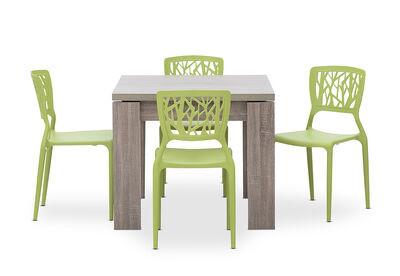 MAJESTY - 5 Piece Dining Suite with Funk Dining Chairs
