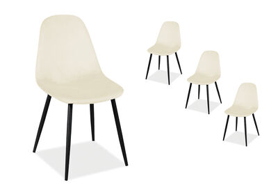SALTO - Set of 4 Soft Beige Dining Chair