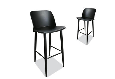MIRA - Set of 2 Black Bar Stools