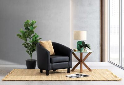 DEL RICO - Leather-Look Accent Chair