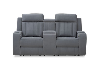HERCULES - Fabric 2 Seater with Inbuilt Electric Recliners