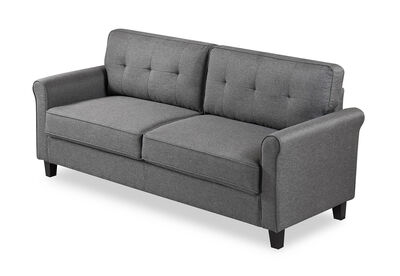 AALIYAH - Grey 3 Seat Sofa