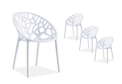 CORAL HARBOUR - White Set of 4 Outdoor Chairs