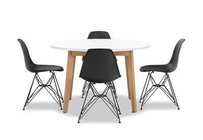 ALYSSA - 5 Piece Dining Suite with Overo Dining Chairs