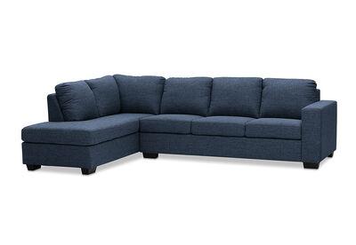 BONZA - Fabric Corner Lounge with LHF Chaise