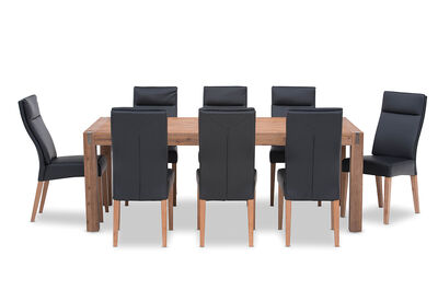 SILVERWOOD - 9 Piece Dining Suite with Asheville Chairs