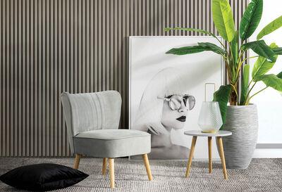 JANE - Grey Accent Chair