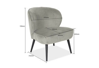 AMHERST - Grey Accent Chair