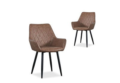 DORELLA - Set of 2 Dining Chairs