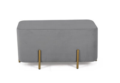 BRONX - Grey Upholstered Bench
