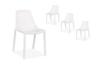 KAI - Set of 4 White Dining Chairs