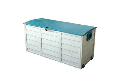 BALDWIN - White/Green Outdoor Storage Box