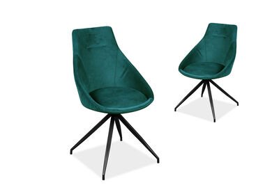 WHIRL - Set of 2 Green Dining Chairs