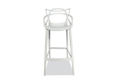 HERRERA - Set of 4 White Replica Philippe Starck Masters Bar Stools