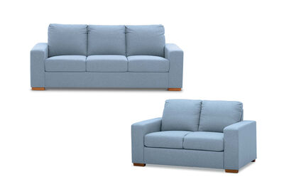 NIXON - Fabric Sofa Pair