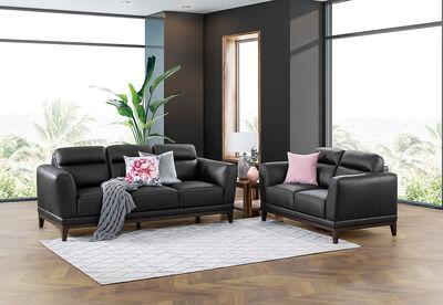GABRIELLA - Leather Sofa Pair