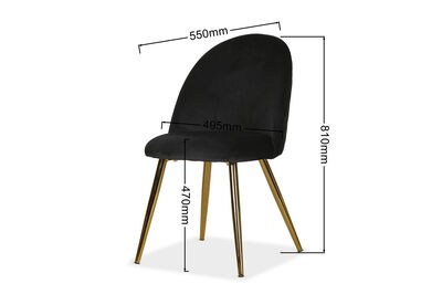 TALENCE - Set of 2 Black Dining Chairs