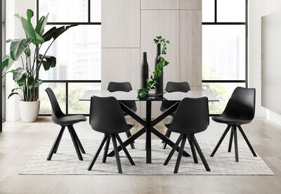 BOULEVARD - 7 Piece Dining Suite with Fresian Dining Chairs