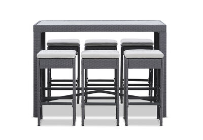 RIMINI - 7 Piece Outdoor Bar Setting