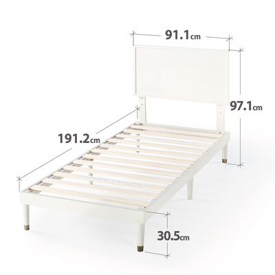MIDDLETON - White Single Bed