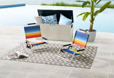 PORTILLO - Set of 2 Navy Beach Chairs