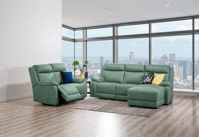 SAN MARCO - Fabric Sofa Pair with RHF Chaise