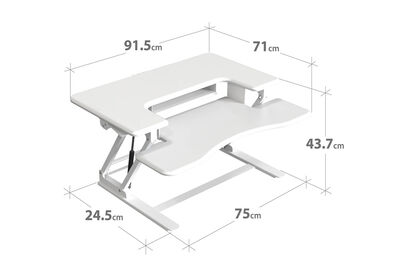 HOLLAND - White Two-tier Standing Desk Riser