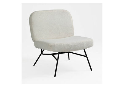 ALBURY - White Fleece Accent Chair