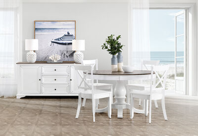 MARSEILLE - 5 Piece Dining Suite with Clouds Dining Chairs