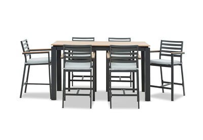 MORNINGTON - 7 Piece Outdoor Bar Setting
