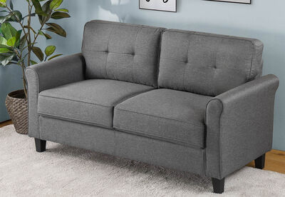 AALIYAH - Grey 2 Seat Sofa