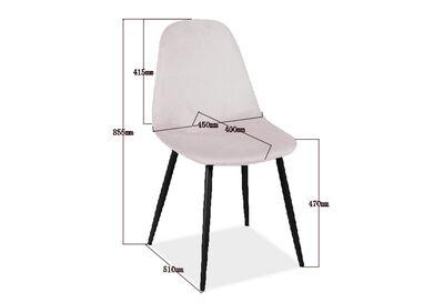 SALTO - Set of 4 Blush Dining Chair