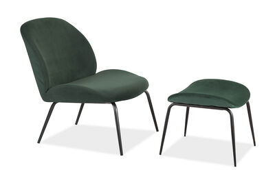 LOS ALTOS - Accent Chair with Stool