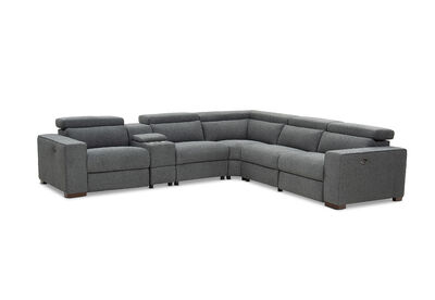 CONNELLAN - Fabric Corner Suite with 2 Electric Recliners