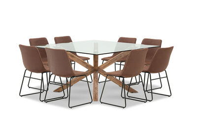PROMENADE - 9 Piece Dining Suite with Loz MK2 Dining Chairs