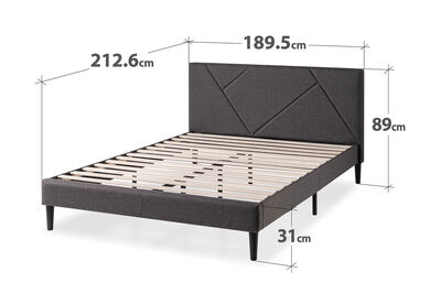 LANE - Dark Grey King Bed