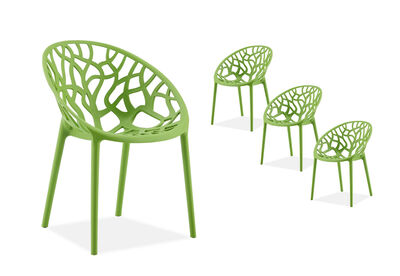 CORAL HARBOUR - Light Green Set of 4 Outdoor Chairs