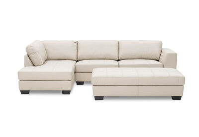 ORLANDO - Left Hand Facing Corner Lounge Suite with Ottoman