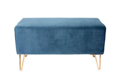 BEAUFORT - Blue Velvet Ottoman Bench