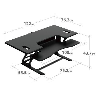 RAMSEY - Black Standing Desk Riser