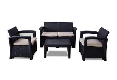 SAANEN - 4 Piece Outdoor Lounge Setting