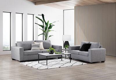 BONZA - Fabric Sofa Pair