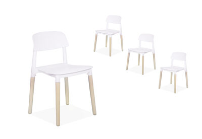 MEADOW - Set of 4 White Replica Belloch Dining Chairs